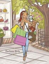Cartoon Girls Coloring Book 1 & 2