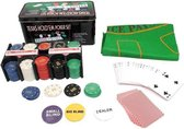 Texas Hold Em Poker / Blackjack Set - Pro Pokerset Met 200 Poker Chips / Pokerkaarten Cards / Speelkleed