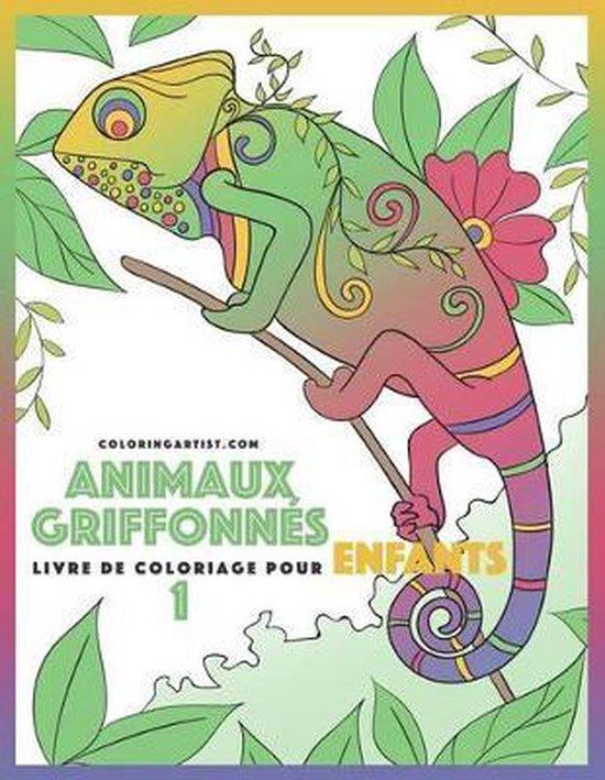 Livre de Coloriage Pour Enfants Animaux Griffonn s 1