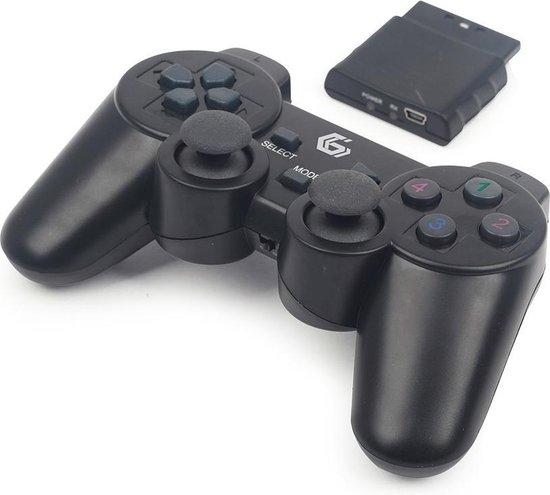 GMB Gaming Dual Vibration USB/PS2/PS3 GamePad - draadloos / zwart