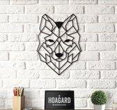 Hoagard Metalen Wolf Wanddecoratie |37cmX50cm|Metalen Dromenvanger | Wanddecoratie