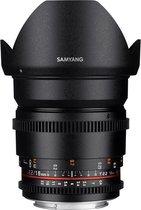 Samyang 16mm T2.2 Vdslr Ed As Umc Cs II - Prime lens - geschikt voor Sony Spiegelreflex