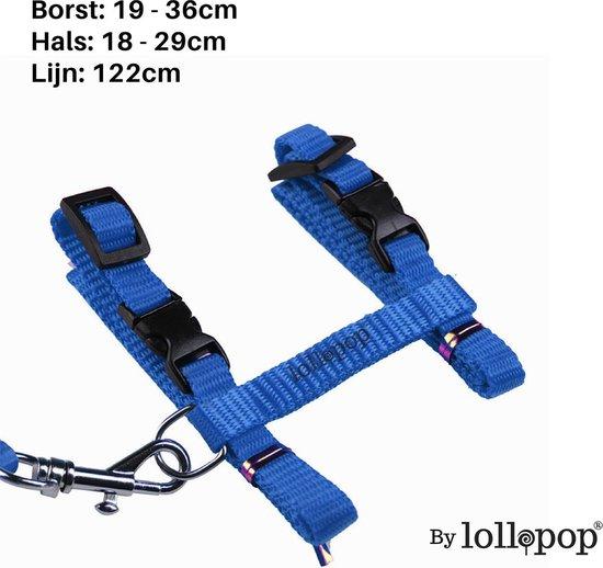 Lollipop® Kattentuigje Met Loopband - Blauw - 120 cm