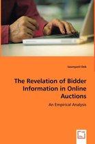 The Revelation of Bidder Information in Online Auctions