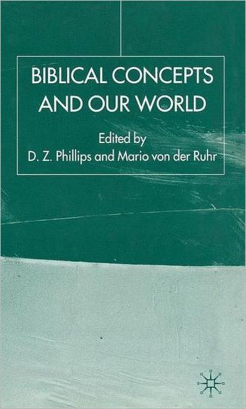 Boek cover Biblical Concepts and our World van Dewi Zephaniah Phillips (Hardcover)