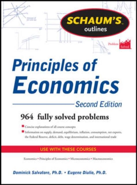 Boek cover Schaums Outline of Principles of Economics van Dominick Salvatore