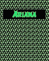 120 Page Handwriting Practice Book with Green Alien Cover Ariana