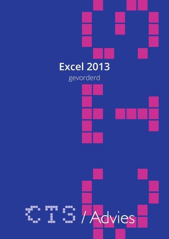 Excel 2013 Gevorderd - Charles Scheublin |
