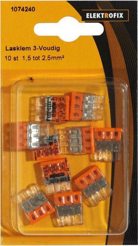 Elektrofix lasklem 3-voudig 10 st