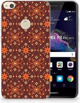 Huawei P8 Lite 2017 Uniek TPU Hoesje Batik Brown