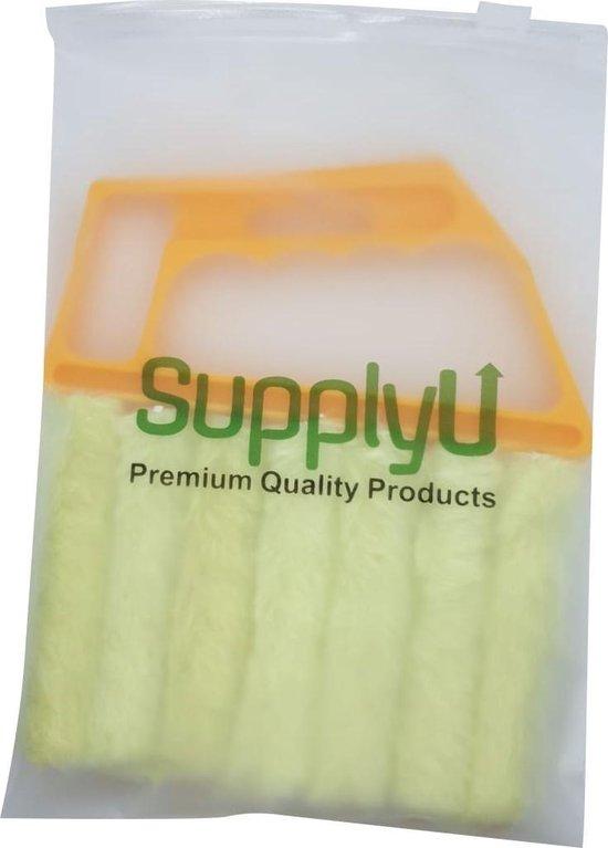 SupplyU Jaloezie Reiniger - Jaloezie Stoffer - Luxaflex Borstel - Lamellen Reiniger - Stof Verwijderen - Lamellen Stofvrij - Geel