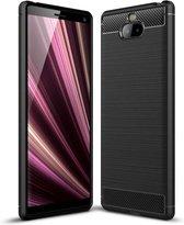 Sony Xperia 10 Plus hoesje - Rugged TPU Case - zwart
