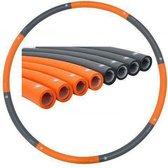 Weight hoop New Generation - Fitness Hoelahoep - 1.8 kg - Ø 100 cm - Oranje/Grijs