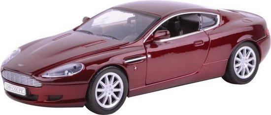 Modelauto Aston Martin DB9 rood 1:18 - Speelgoed auto schaalmodel