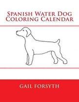 Spanish Water Dog Coloring Calendar