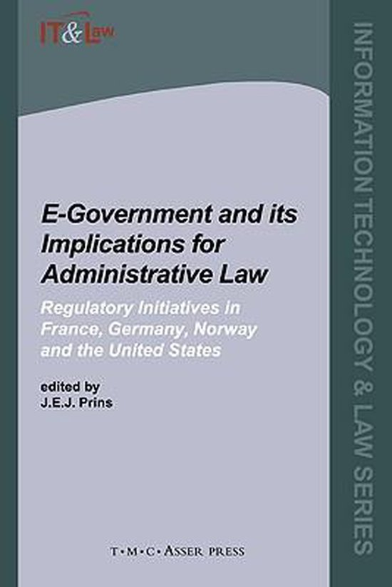 Boek cover E-Government and Its Implications for Administrative Law van J. Prins (Hardcover)