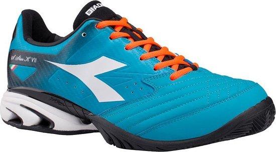 Diadora S. Star K VII AG - Tennisschoenen - Mannen - Maat 42 - Blauw/Oranje