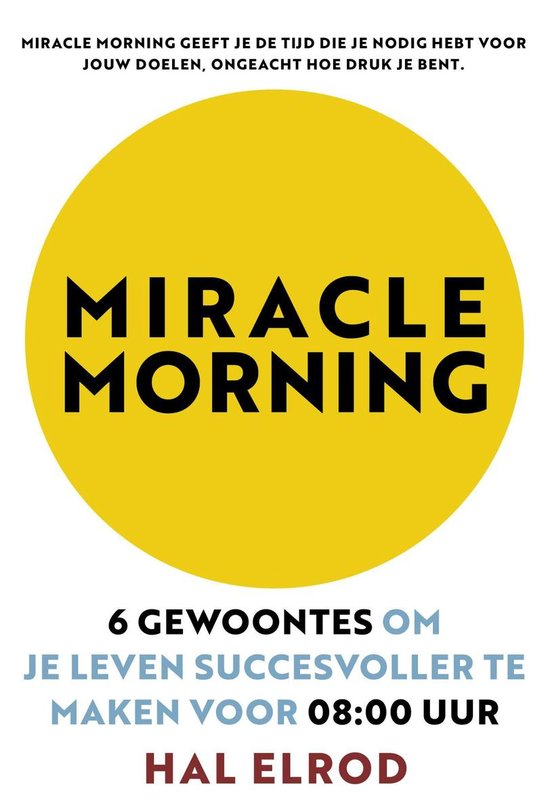 Boek cover Miracle Morning van Hal Elrod (Paperback)