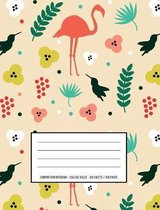Tropical Flamingo - Pretty Composition Book and Notebook