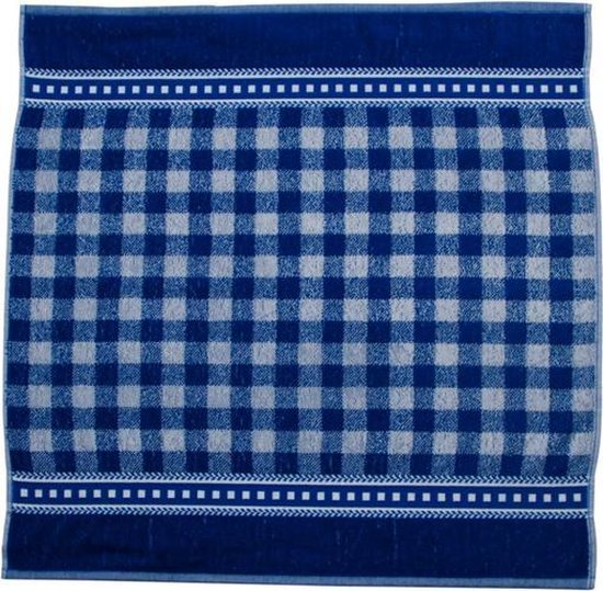 Elias Lace Keukendoek (6 Stuks) - 60x60 cm - Blauw
