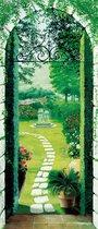 Fotobehang Vista dal Porticato - Deurposter - 86 x 200 cm - Multi