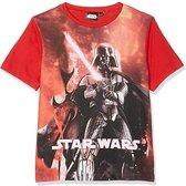 Disney Star Wars 8 - Kinder/Kleuter/Tiener - Darth Vader - T-shirt - rood - maat 3/4jaar (98/104)