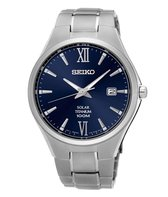 Seiko SNE407P1 horloge heren - grijs - titanium