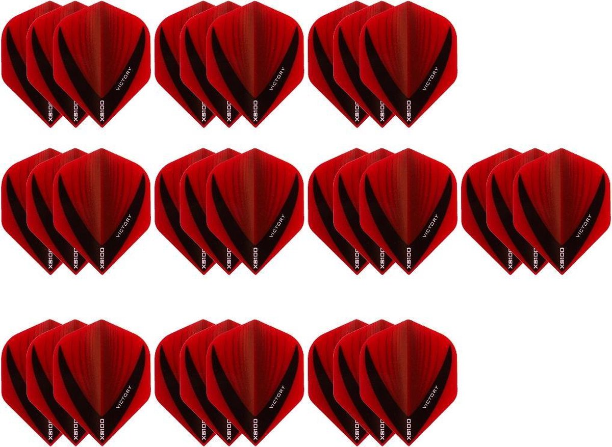 10 Sets (30 stuks) Stevige XS100 Vista - flights - Multipack - Rood