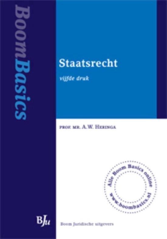 Boom basics - Staatsrecht - A.W. Heringa |