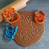 Koekjesvorm | 3-delige set | Sinterklaas | Schoorsteen piet - Sinterklaas - Zak van Sinterklaas | Cookie cutter | Uitsteekvorm | Bakvorm | 8cm