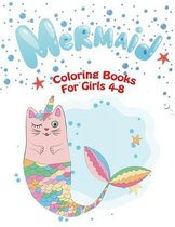 Mermaid Coloring Books For Girls 4-8