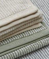 Marc O'Polo Timeless Tone Stripe  Washandje - 16x22 - Oatmeal/white
