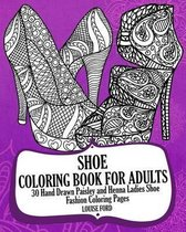 Shoe Coloring Book for Adults