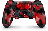 Playstation 4 Controller Skin Camouflage Rood Sticker