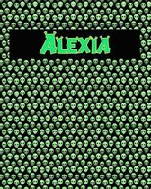 120 Page Handwriting Practice Book with Green Alien Cover Alexia