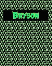 120 Page Handwriting Practice Book with Green Alien Cover Bryson