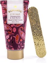 Hand & Nagel Creme - ROMANTIC VINTAGE - Pomegranate & SheaButter - Handverzorging cadeau set voor vrouwen