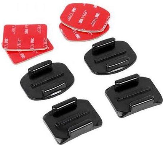 Qatrixx GoPro mount set - 2 x flat mount, 2 x curved mount