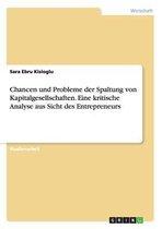 Chancen und Probleme der Spaltung von Kapitalgesellschaften. Eine kritische Analyse aus Sicht des Entrepreneurs