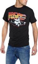Back to the Future - Car Mannen T-Shirt - Zwart - L