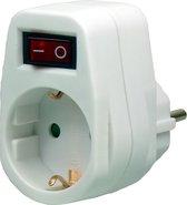 EcoSavers Socket Switch 1  | Doorvoerstekker | Aan/schakelaar | NIET geschikt voor België