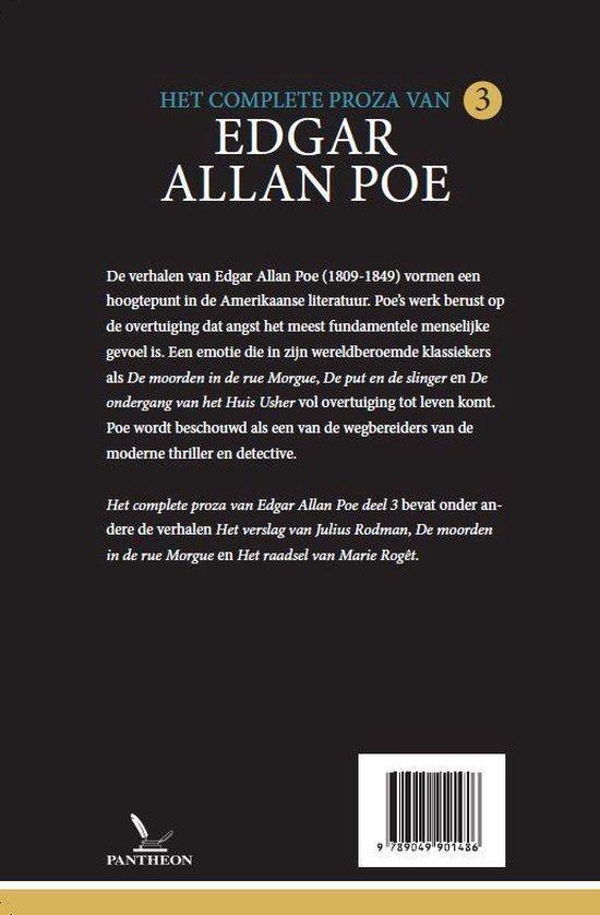 Poe's complete proza 3 - Het complete proza 3 - Edgar Allan Poe | Fthsonline.com