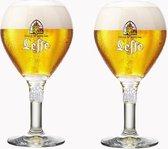 Leffe bierglazen - 2 stuks - nieuwe editie - speciaalbier