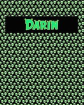 120 Page Handwriting Practice Book with Green Alien Cover Darin