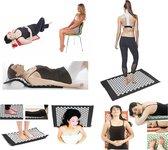 Accupressuur Spijkermat - Yoga / Accupressure Yantra Fitness Sport Massage Mat Pad - Massagemat Zwart