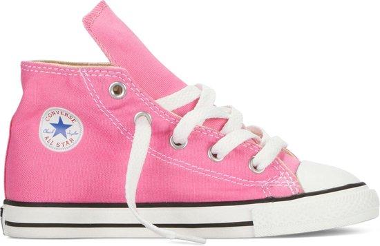 Converse Chuck Taylor All Star Hi Sneakers - Maat 25 - Meisjes - roze/wit