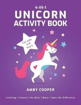 4-In-1 Unicorn Activity Book for Kids 4-8 Years