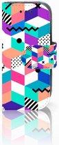 Nokia 3310 (2017) Bookcase Hoesje Design Blocks Colorful