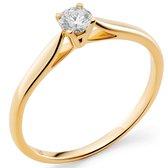 Orphelia RD-3918/54 - Ring - Goud 18 kt - Diamant 0.2 ct - 17.25 mm /  maat 54