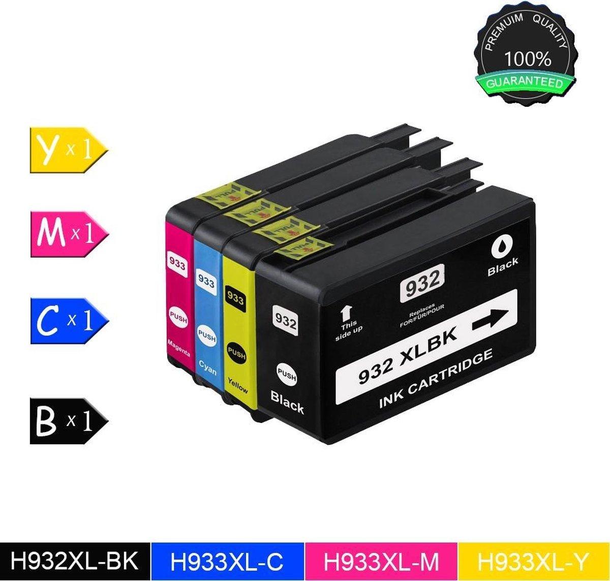 Merkloos - Inktcartridge / Alternatief voor de HP-932XL / HP 932XL voor HP Officejet 6700 Premium, 7110 Wide Format ePrinter - Zwart / Cyaan / Magenta / Geel / Multipack - Merkloos